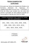Tocha Olimpica - Suspensão Horários